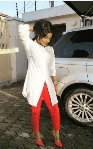 Iyabo Ojo Steps Out in Her Favorite Color